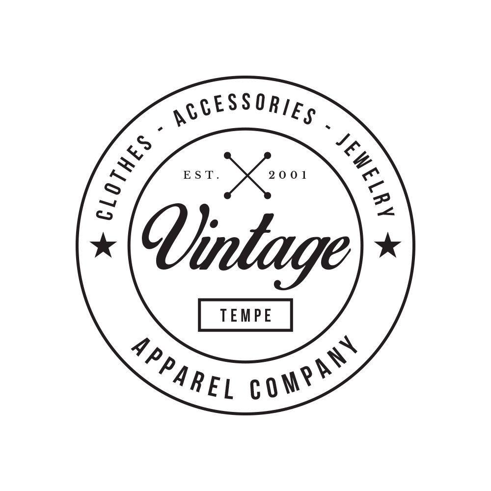 Vintage Clothing Premade Logo Graphic Design Pre Made Etsy Clothing Logo Logo Design Vintage Outfits