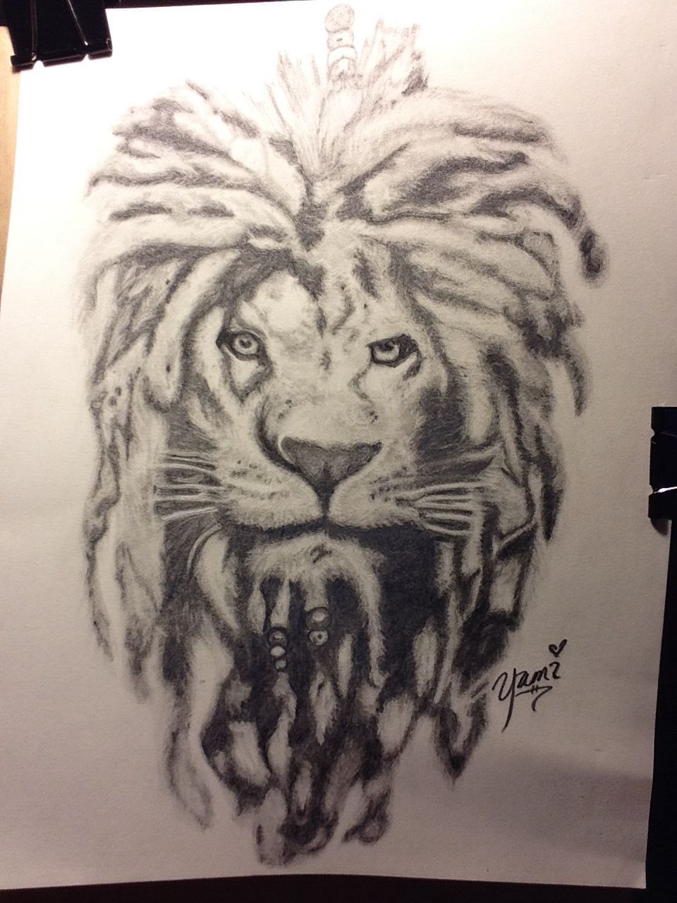 a50bdaee5f849 Comissioned project. Lion with dreads. | My doodles | Lion tattoo ...
