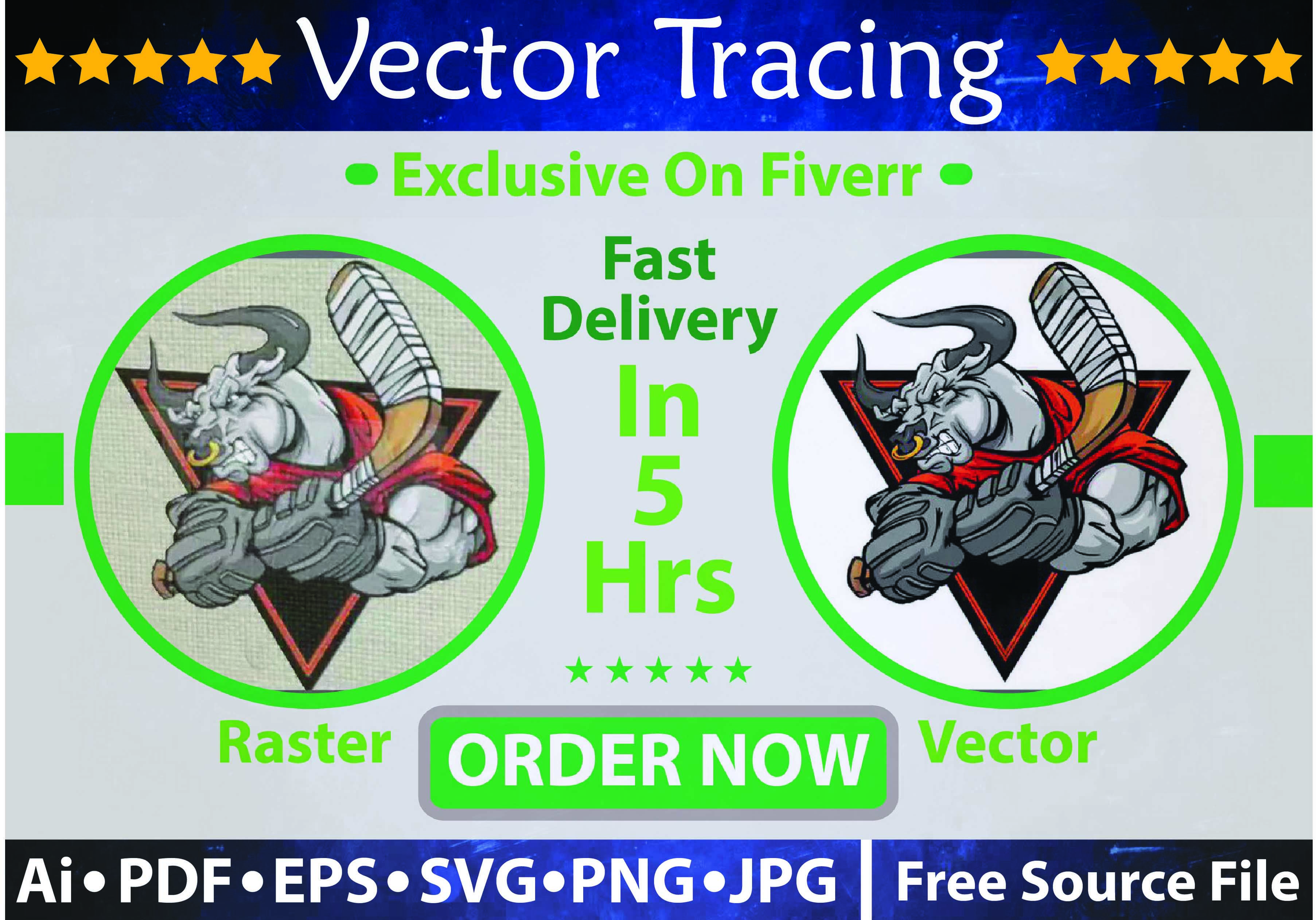 I will turn your drawing or logo into a vector hi res