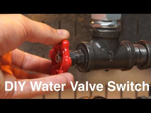 DIY Water Valve Light Switch Industrial Steampunk Copper Lamp With Gate Tutorial
