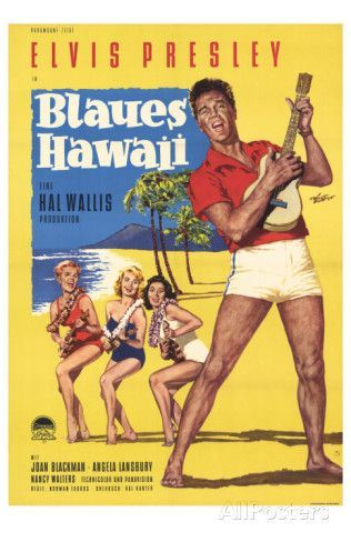 Blue Hawaii , German Movie Poster, 1961 Photo is part of Elvis presley blue hawaii, Old movie posters, Blue hawaii, Vintage film, Elvis presley movies, Classic movie posters -