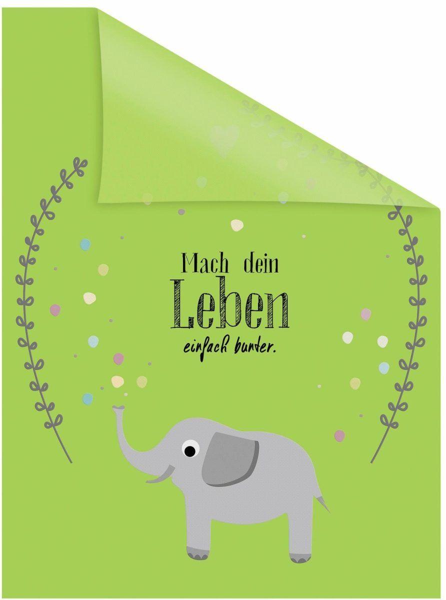 Marvelous Einfache Dekoration Und Mobel Mammoth Collection #13: Fensterfolie Grün, B/L: 50x50cm, »Elefant«, Lichtbick Jetzt Bestellen  Unter: Https://moebel.ladendirekt.de/dekoration/wandtattoos/wanddekoration/?uidu003d  ...
