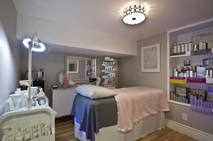 Esthetician Treatment Room Found on facebookcom Spa room and