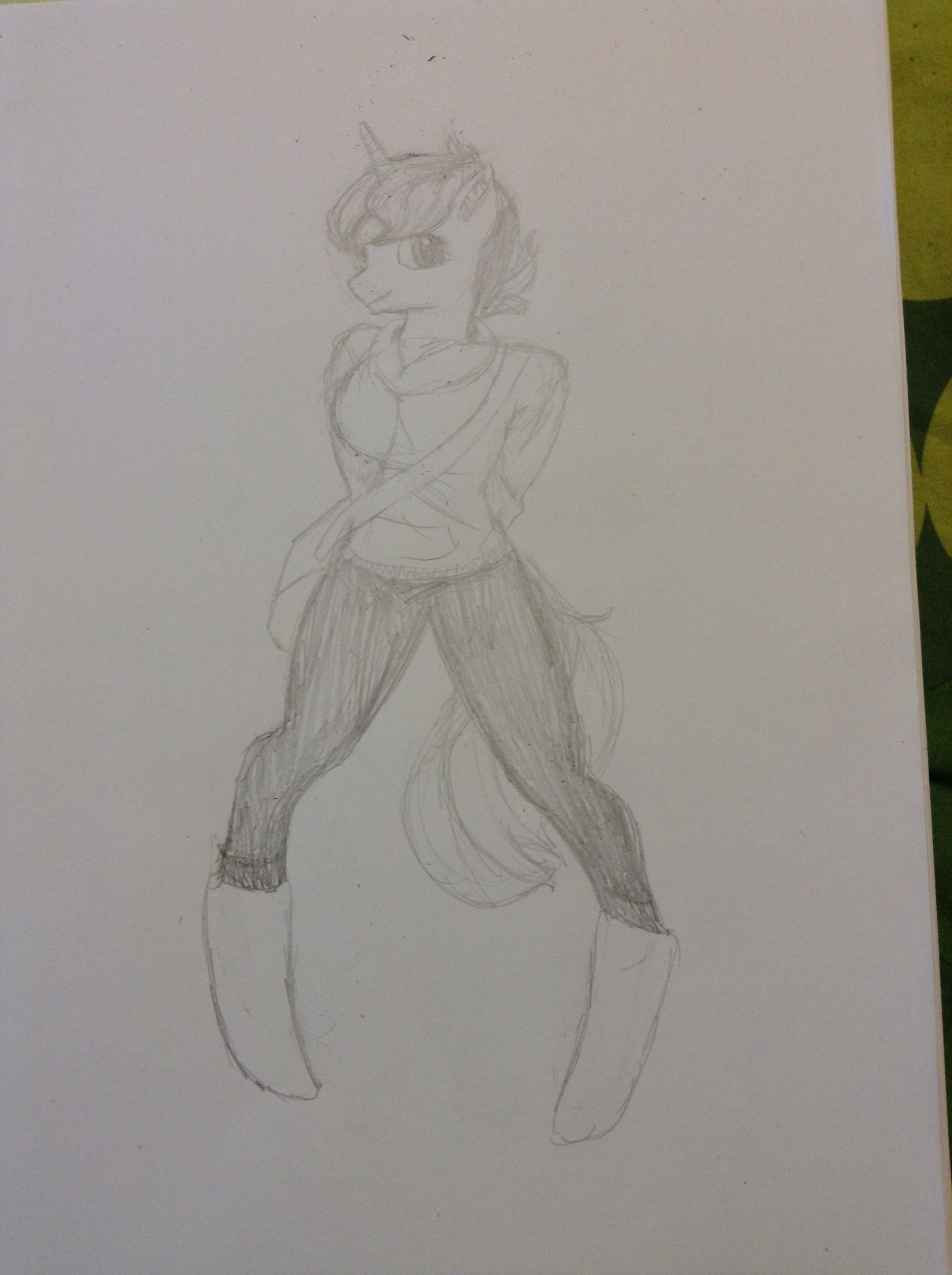 I tried something new and drew an anthro Imy. Really happy with how it turned out
