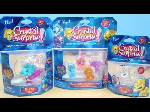 Crystal Surprise Lucky Sparkling Pets With Surprise Charms To Collect Cute Notebooks Crystals Pets