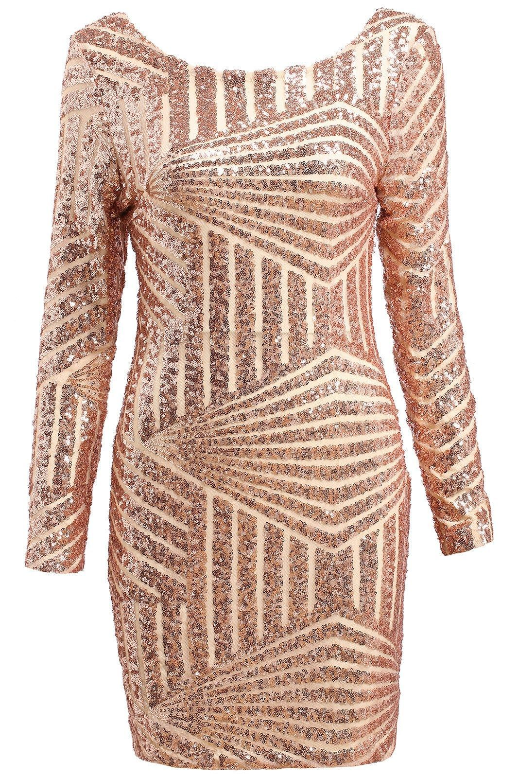 Posh girl gold open back sequence dress my likes pinterest
