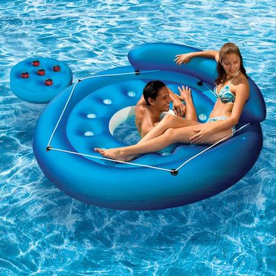 Poolmaster French Pocket Convertible Island Inflatable