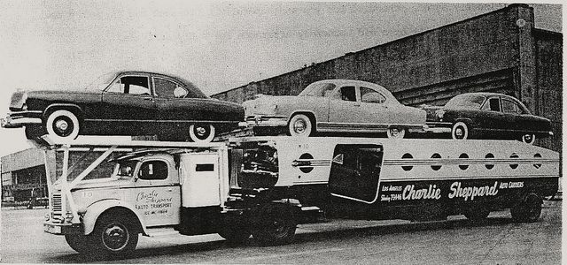 1951 Kaisers on REO by PAcarhauler, via Flickr   Towing  Auto Transporter Insurance www.TravisBarlow.com