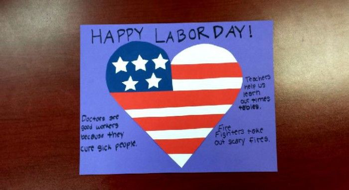 Labor Day Craft: I Heart American Workers #labordaycraftsforkids