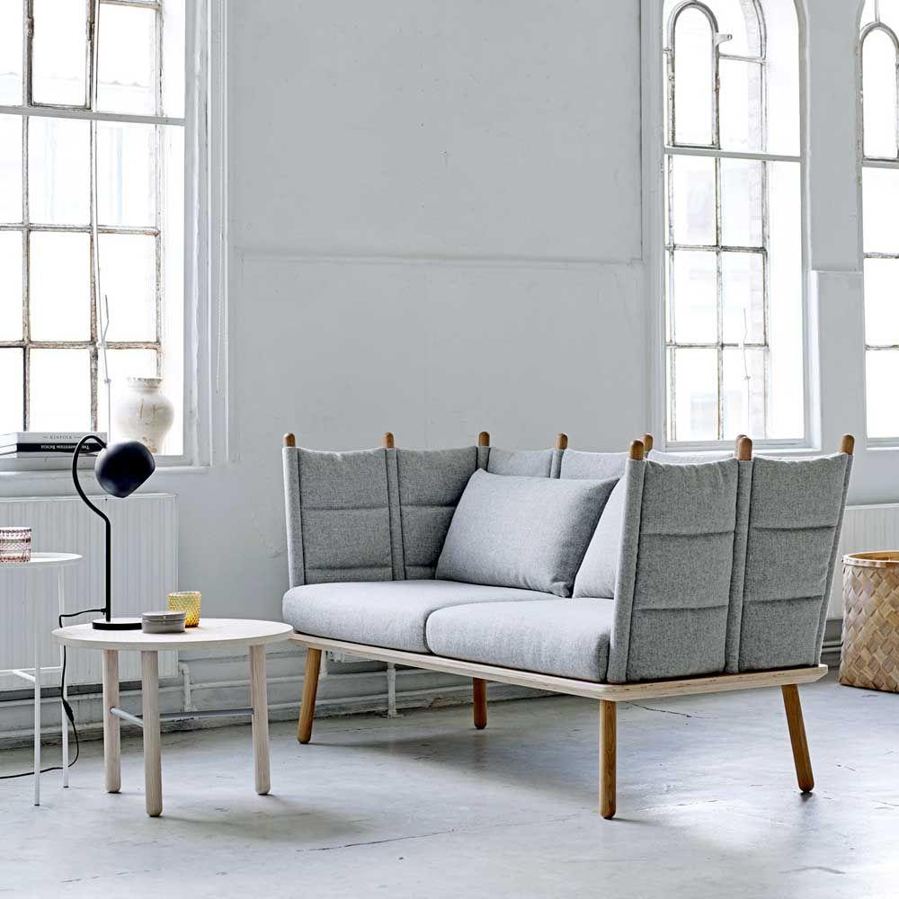 "BLOOMINGVILLE Sofa ""Nora"" Eiche & Wolle (grau) (mit"