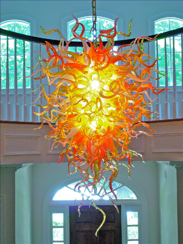 Blown Glass Chandeliers by Seth Parks | Lighting Products ...