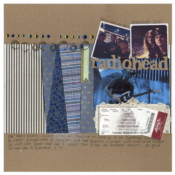 Pin by Justine Dreyer on Memories - Scrapbooking inspiration - concert ticket layout