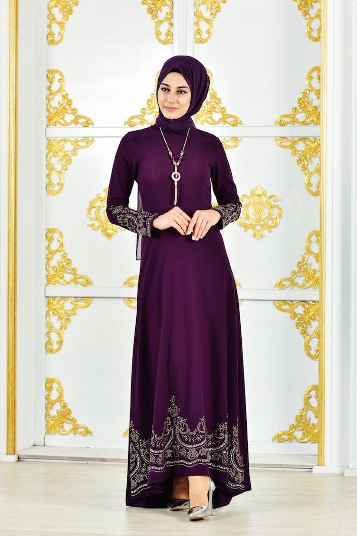 Sefamerve Sik Tesettur Elbise Modelleri Moda Tesettur Giyim Elbise Modelleri Elbise Tul Gelinlikler