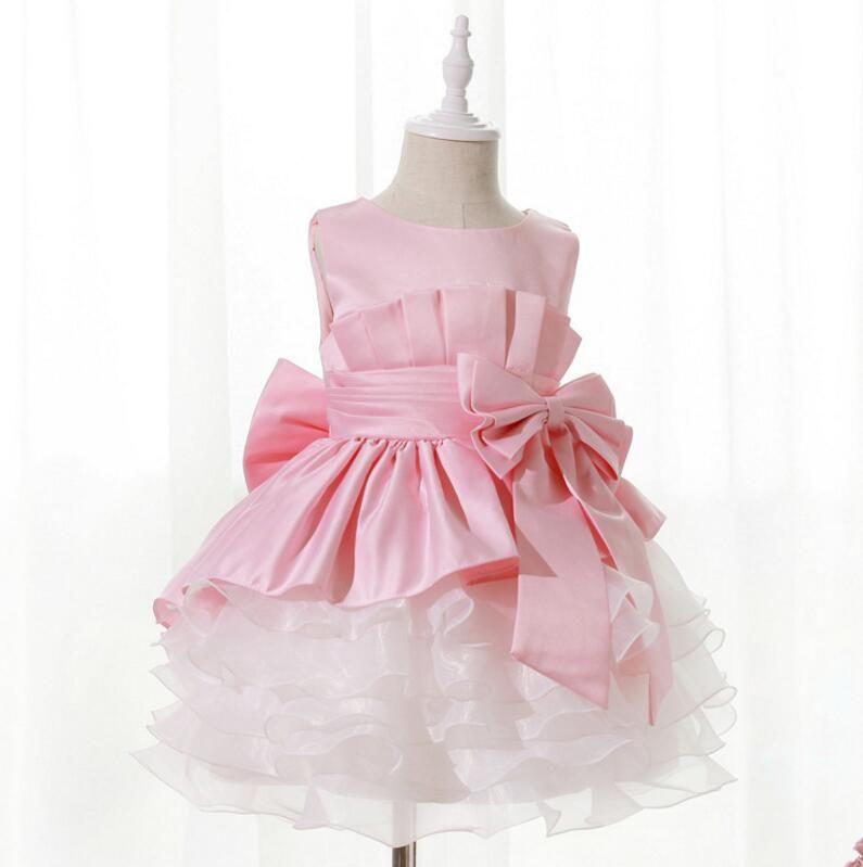 08f9c3e39 Click to Buy    Girls kids frock Flowers Bow Tutu Dress Vestidos ...