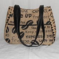 Sewing : Ethel Bag Made With Burlap and Leather