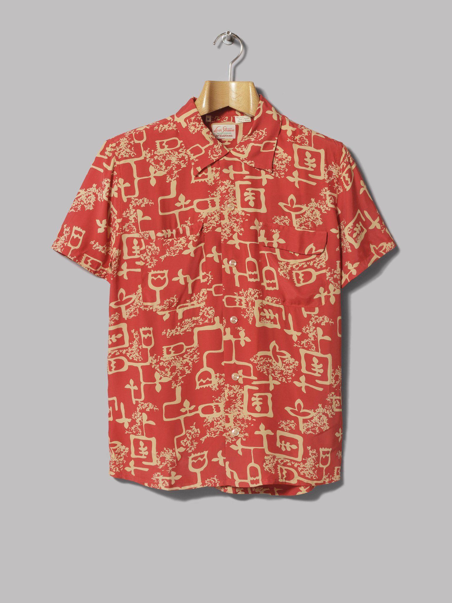 269eafcc Levi's Vintage Clothing 1940s Hawaiian Shirt (Lark Baked Apple ...