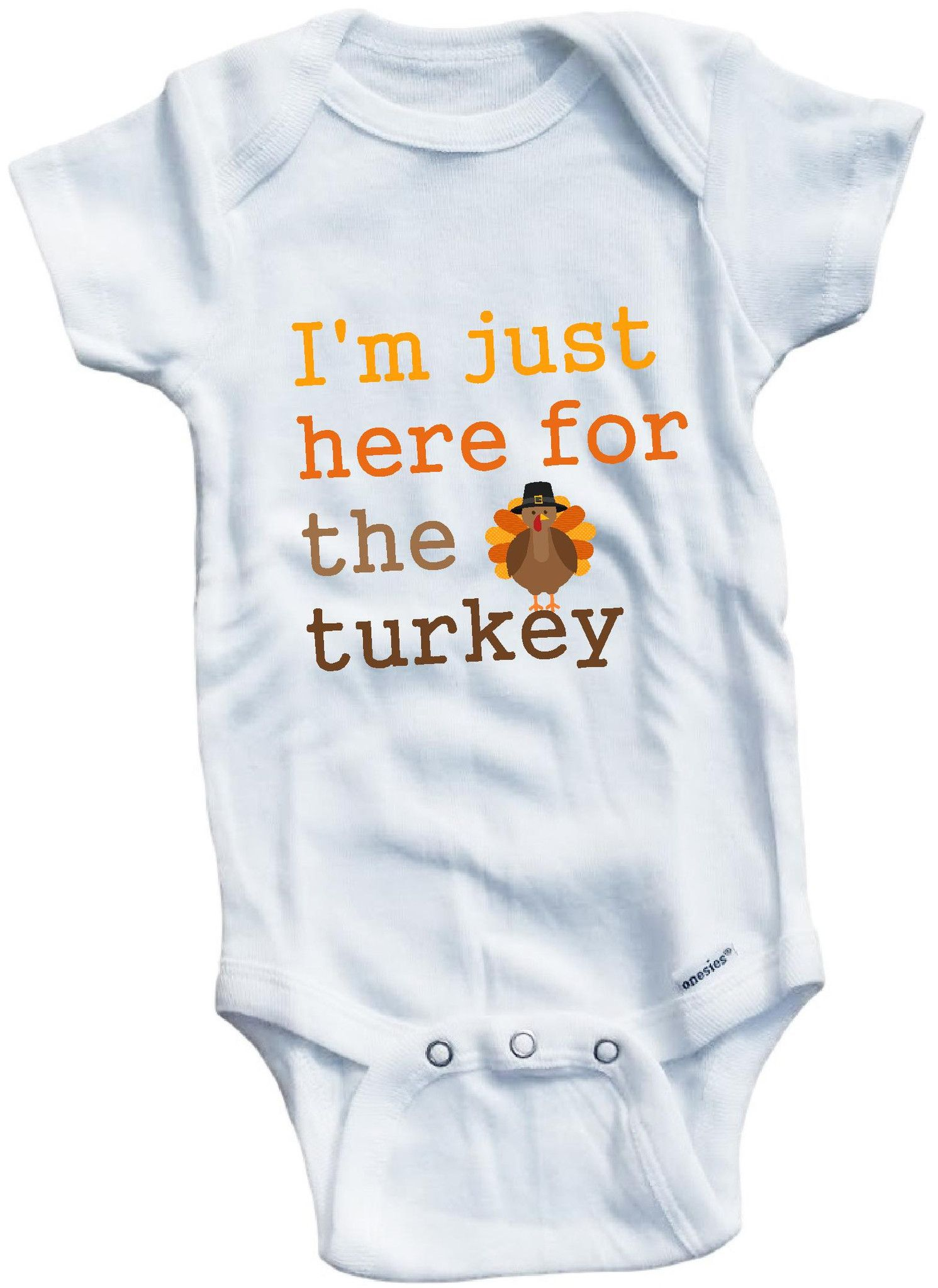 cd20401239a I m just here for the turkey Thanksgiving cute infant clothing funny baby  clothes bodysuit one piece romper creeper