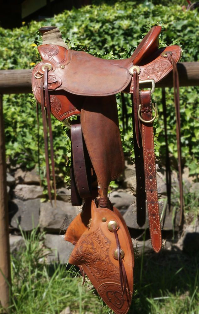 McCall Lady Wade 16 inches Saddle with custom tapaderos   eBay