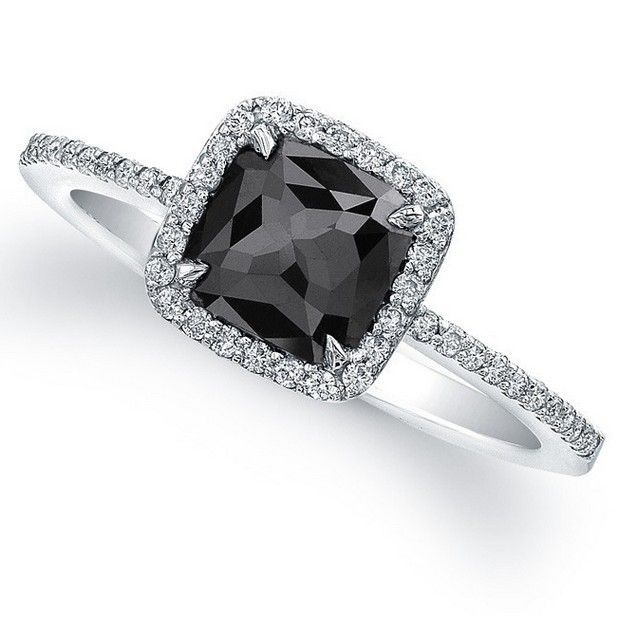 Best Black Diamond Engagement Rings 16 In 2020 Black Wedding Rings Black Diamond Engagement Diamond Wedding Rings