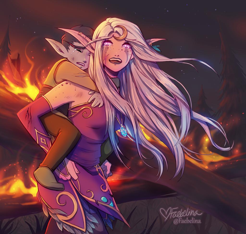 Pin by Faris Bečirović on Mythos Warcraft art, Night elf