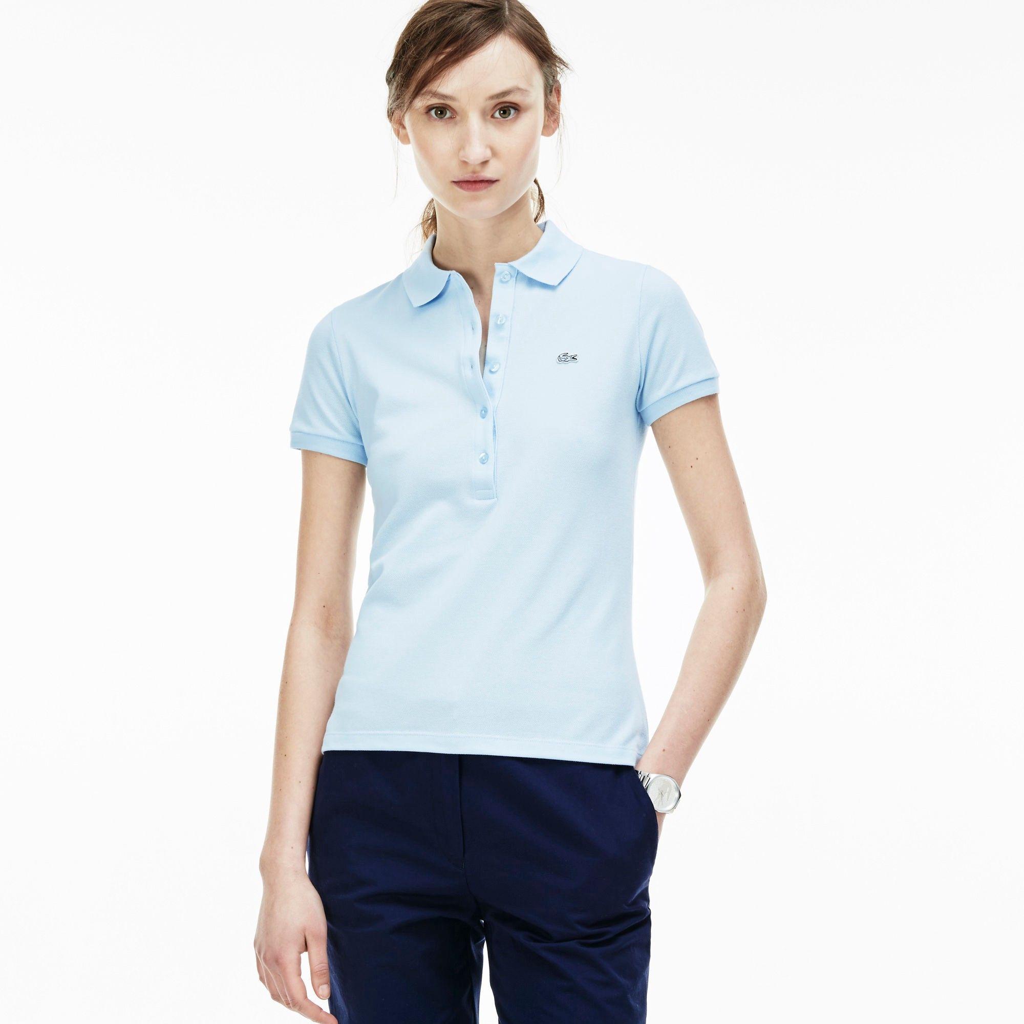 f38a5c58 LACOSTE Women'S Slim Fit Stretch Piqué Polo Shirt - Rill. #lacoste ...