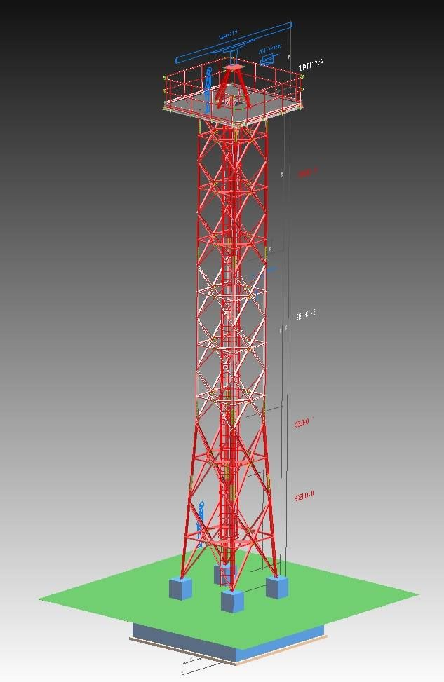 Lattice Tower - Translink Telecomunication Towers - 3D BIM