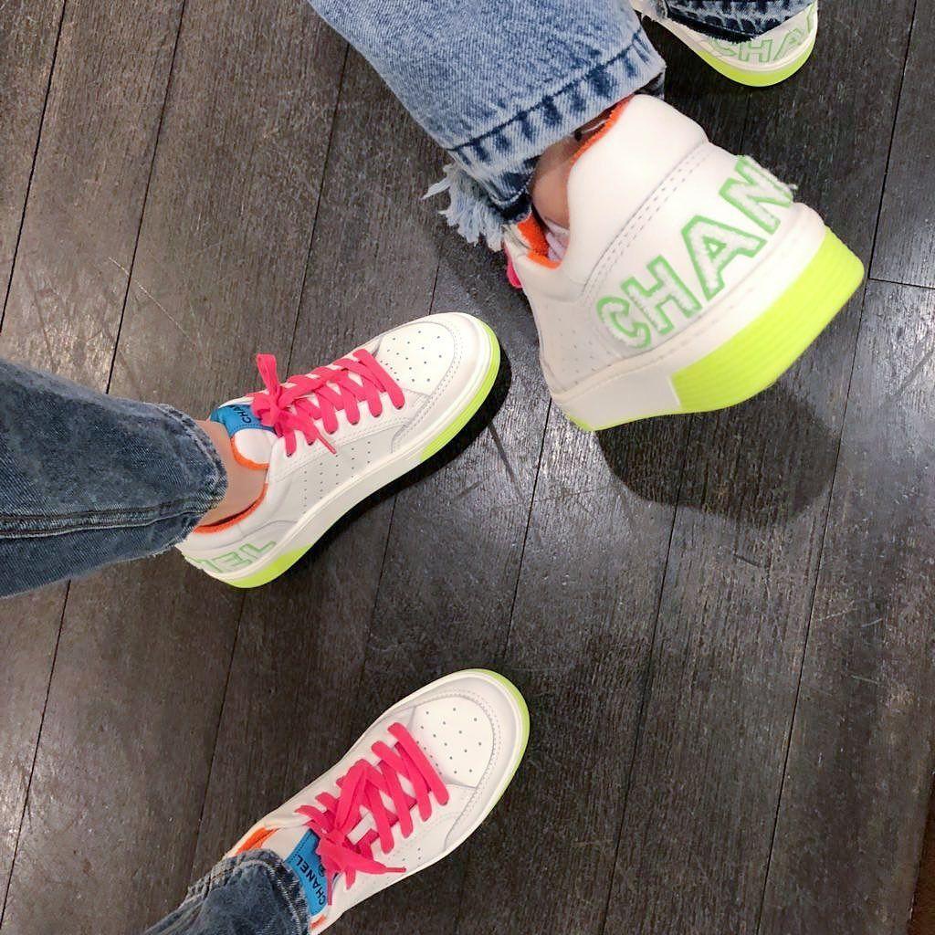 Chanel sneakers, Neon sneakers