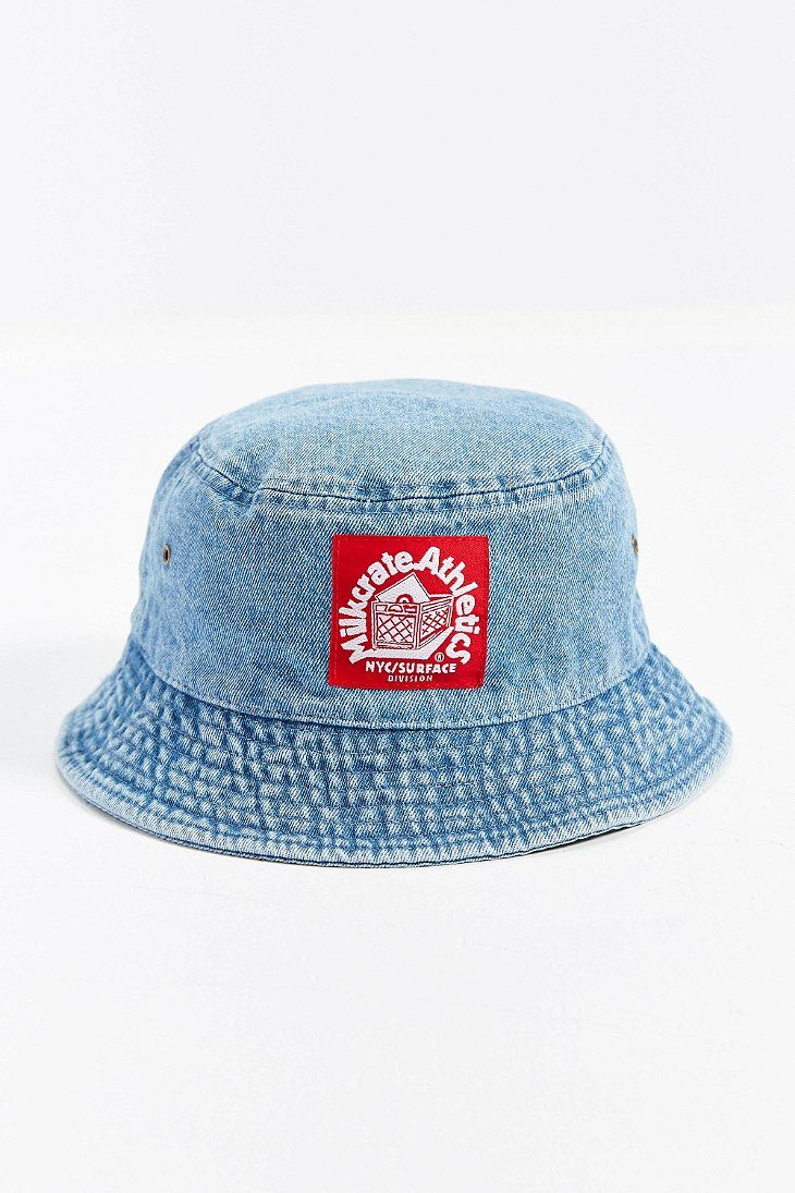 fda966bc9ae Milkcrate Athletics Washed Denim Bucket Hat
