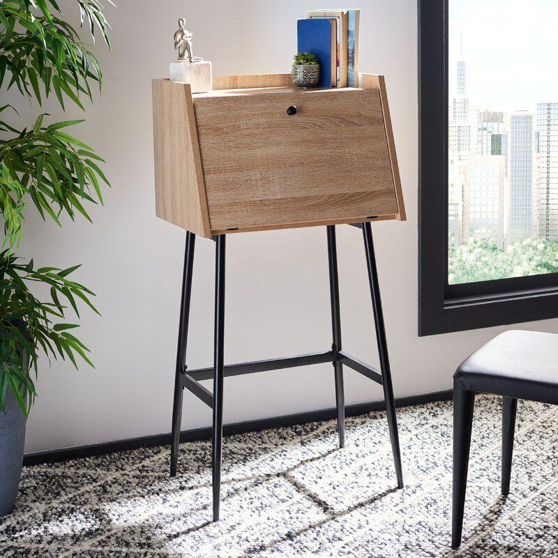 Pantanella Secretary Desk Allmodern In 2020 Modern Secretary Desk Secretary Desks Furniture