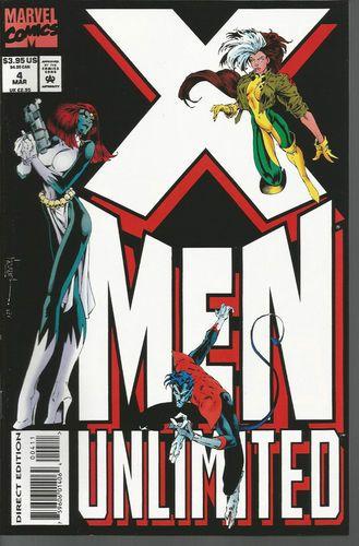 X Men Unlimited 4 Rogue Nightcrawler Mytique Cover Scott Lobdell Script X Men Comic Book Covers Comics
