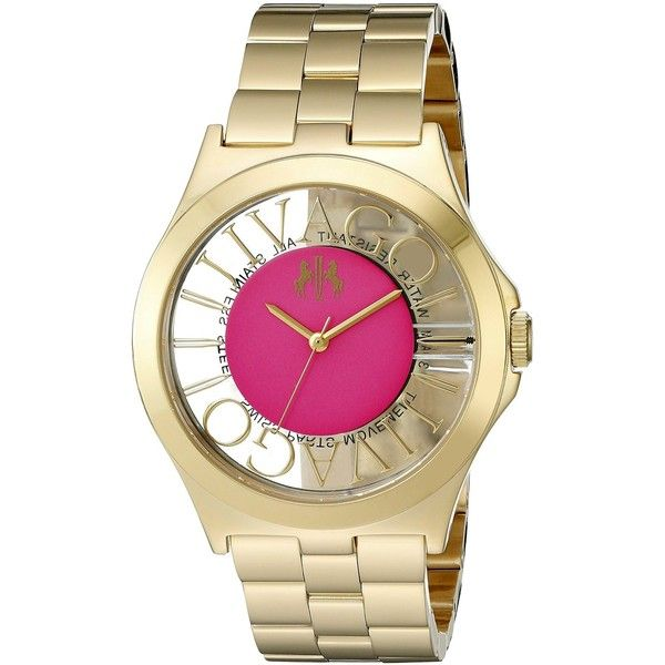 Jivago Fun Analog Display Swiss Quartz Rose Gold Watch (€190) ❤ liked on Polyvore featuring jewelry, watches, pink gold jewelry, sports jewelry, rose gold watches, jivago and sport watches
