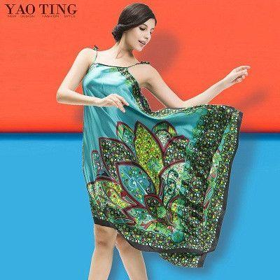 2016 Hot Sexy Lingerie Satin Women Imitated Silk Sleepwear Robes Dress  Night Skirt Nighty Nightgowns Gown 88a172510