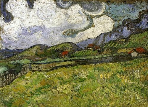 Wheat Field behind Saint-Paul Hospital with a Reaper - Vincent van Gogh