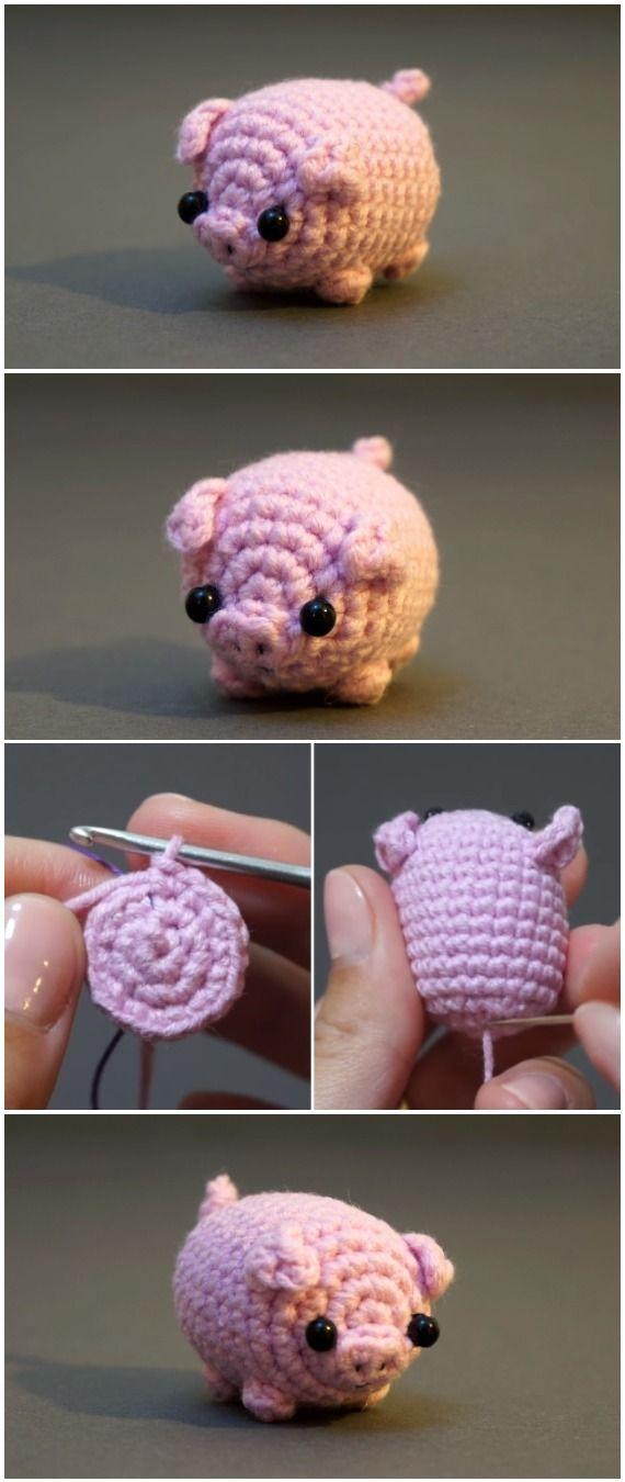 Häkeln Sie Baby Pig Amigurumi #amigurumis