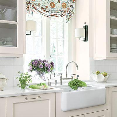 farmhouse sinks with vintage charm farmhouse kitchen curtains kitchen window treatments home on farmhouse kitchen window id=84390