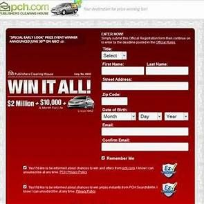 PCH Sweepstakes Entry Registration | Instant win | Instant win
