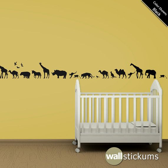 Safari Animals 10 Wall Decal Africa Vinyl Wall Art by WallStickums ...