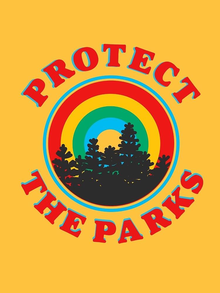 Protect The Parks Retro Aesthetic Design By Lexie Pitzen