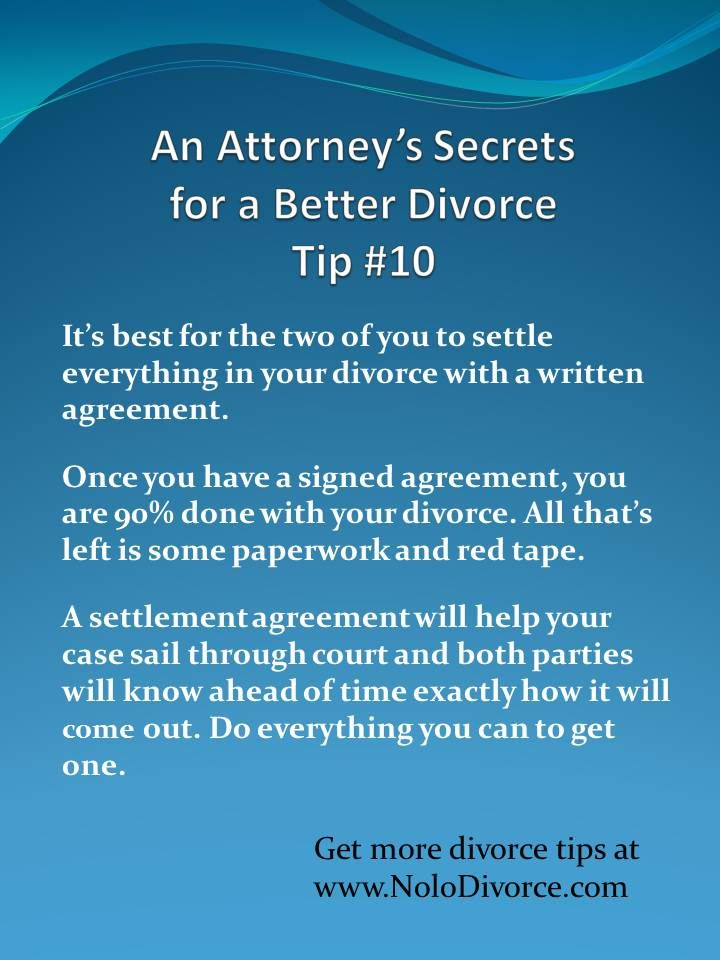 Divorce Advice About Settlement Agreements From WwwNolodivorce