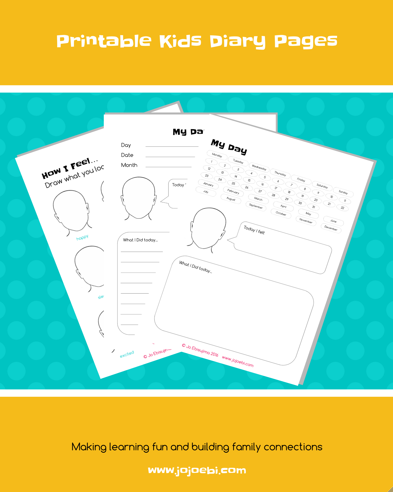 Make Keeping A Diary Fun With This Printable Kids Diary