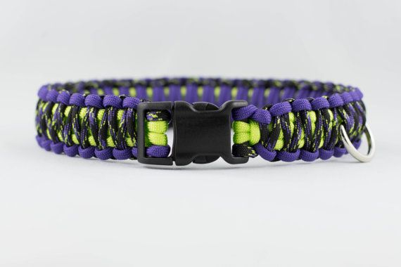 Purple Neon Camo Paracord Collar by paracordmutts on Etsy