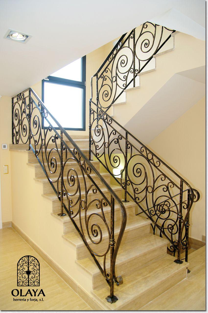 Barandilla de forja wrought iron hierro forjado pinterest escaleras hierro forjado y barandas - Barandas de forja para escaleras ...
