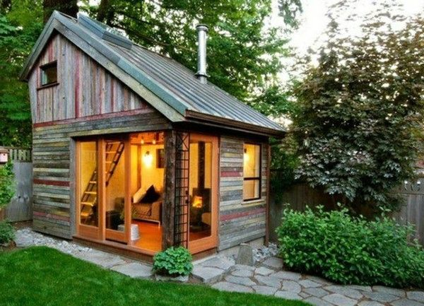 30 Low Cost Mini Houses Would You In So A House Living Small House Pictures Backyard Studio Shed Design