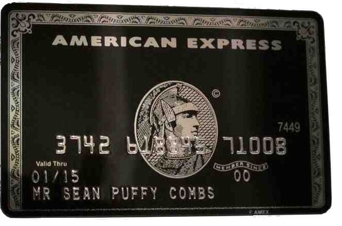 American Express Centurion Black Card Made Of Titanium Steel