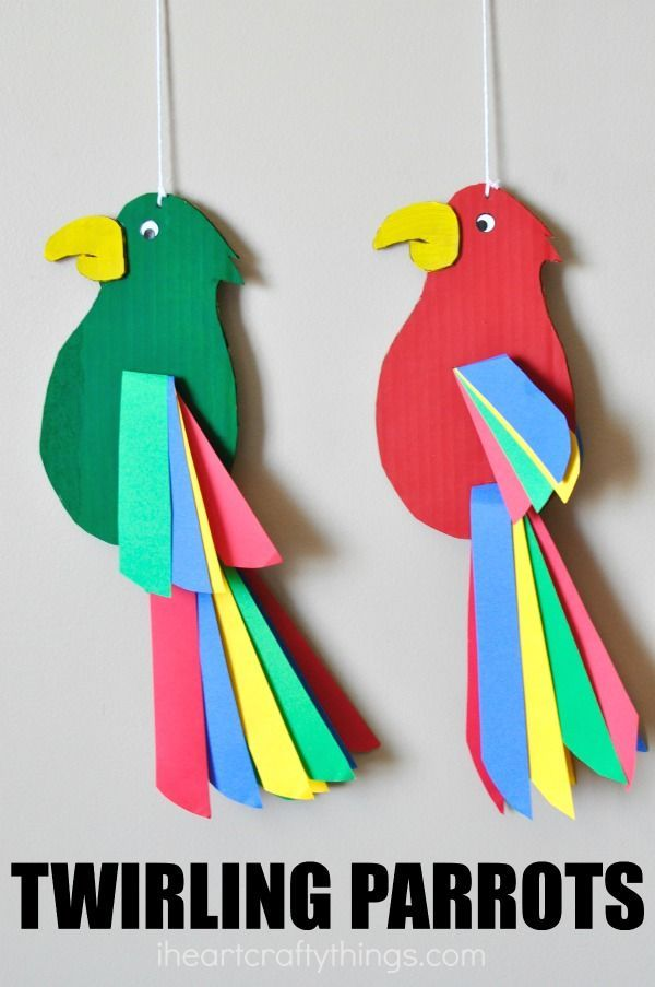 Colorful And Fun Twirling Parrot Craft Homeschool Therapy Crafts