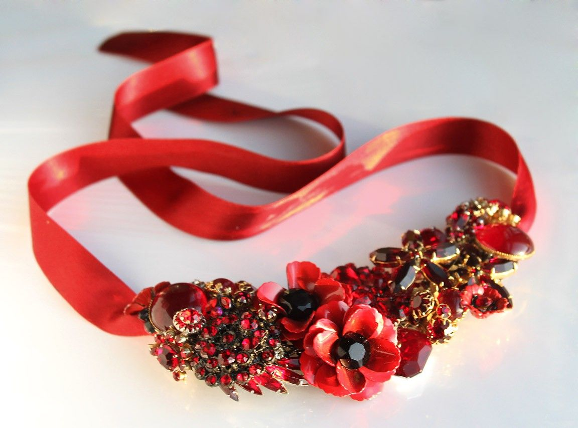 Ravenous Red Statement Necklace.