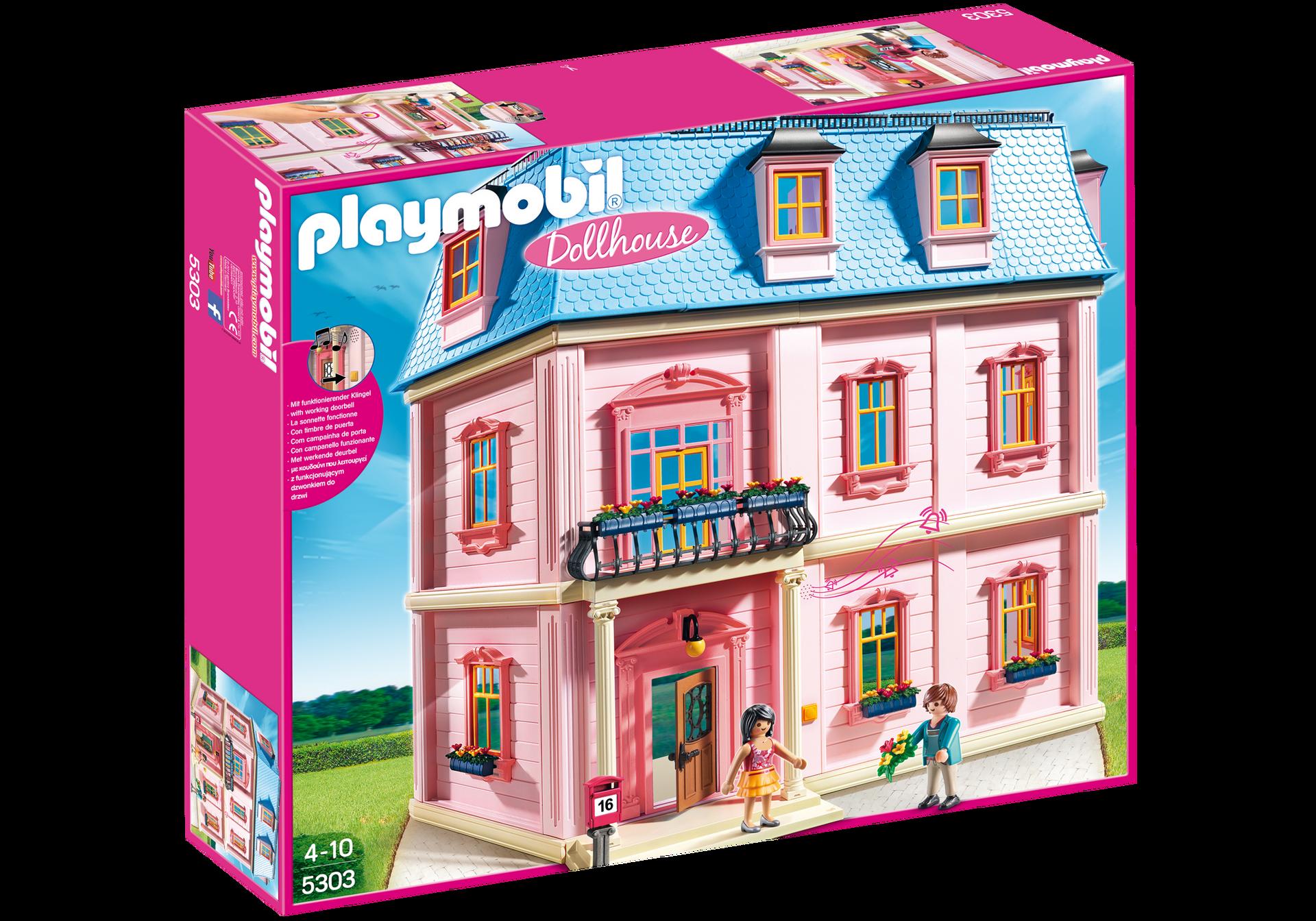 Http Media Playmobil Com I Playmobil 5303 Product Box Front Doll House Playmobil Playmobil Sets