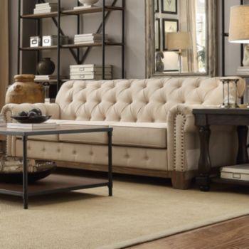Homevance HomeVance Townsend Button Tufted Sofa | Decoracion living ...