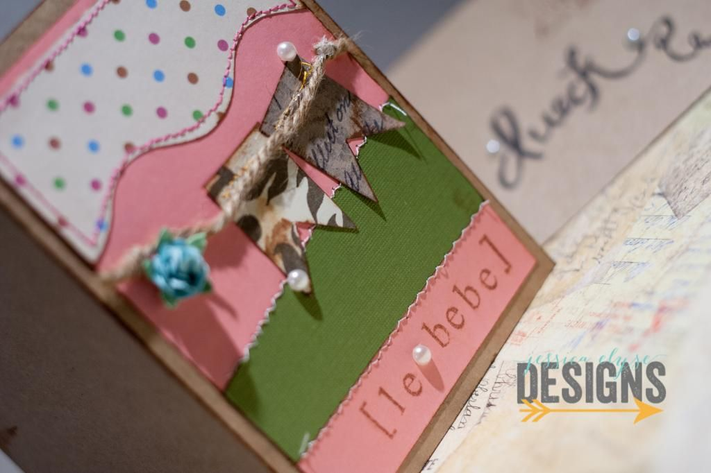 "Jessica Elyse Designs: ""Le bebe"" Card, Baby shower card, banner card - for sale by Jessica Elyse Designs"