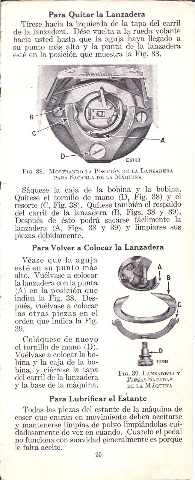 Manual de usuario: Máquina de coser Singer 15-88 y 15-89 de 1940 ...